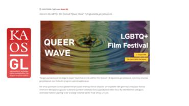 """Kıbrıs'ın ilk LGBTQ+ film festivali """"Queer Wave"""""""