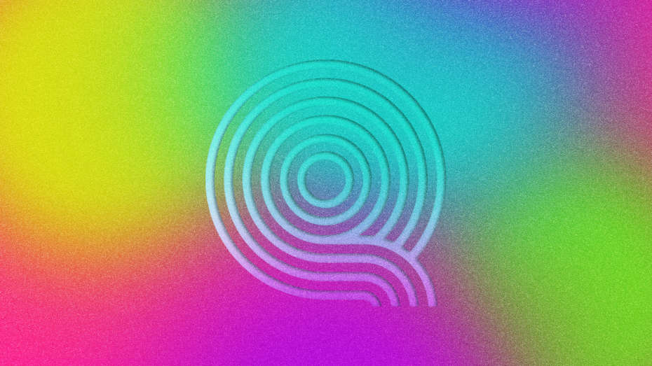 Queer Wave's logo in rainbow colors